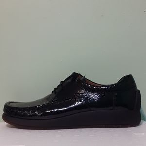 💯%Leather Black Glossy Oxford 9/28cm GERMANY Made